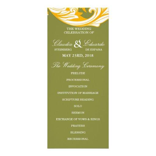 Floral oscuro y con clase elegante - verde de musg anuncio personalizado
