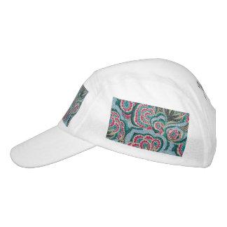 Floral psicodélico con efecto del brillo gorra de alto rendimiento