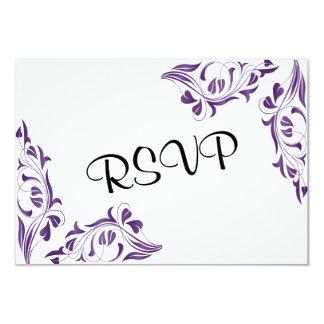 Floral púrpura moderno invitación 8,9 x 12,7 cm