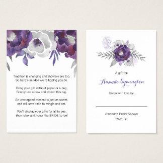 Floral púrpura ninguna etiqueta 3963 de la