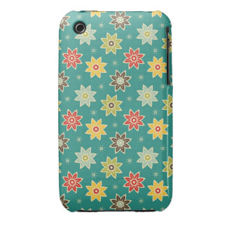 Floral retro iPhone 3 Case-Mate protectores