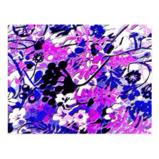 Floral retro raro tarjetas postales