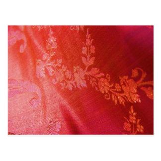 Floral rojo postal