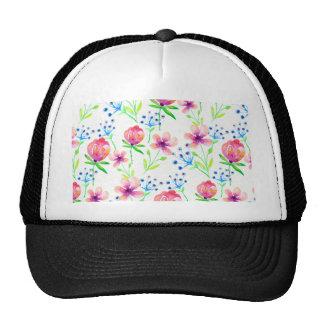 floral rosado gorra