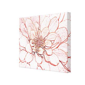Floral rosado lienzo