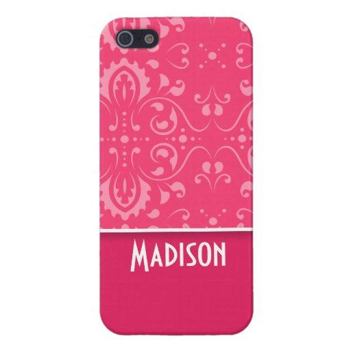 Floral rosado lindo iPhone 5 cobertura