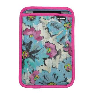 Floral rosado y azul gráfico funda para iPad mini