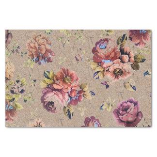 Floral rústico del vintage papel de seda