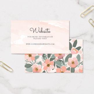 Floral se ruboriza la tarjeta del parte movible