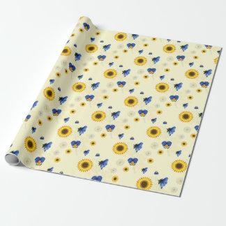 floral soleado papel de regalo