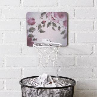 Floral suave mini tablero de baloncesto