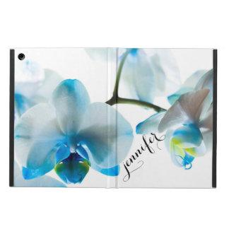 Floral tropical elegante de las orquídeas azules