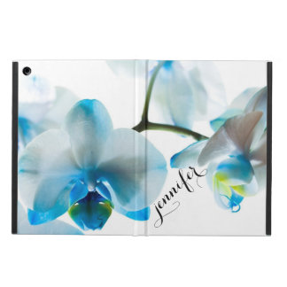 Floral tropical elegante de las orquídeas azules funda para iPad air