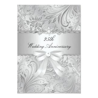 Floral y arquee el 25to aniversario de boda invitación 12,7 x 17,8 cm