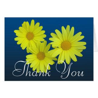 Florales elegantes de la foto colorida amarilla de tarjeta pequeña