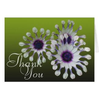 Florales elegantes de la foto colorida de las tarjeta pequeña