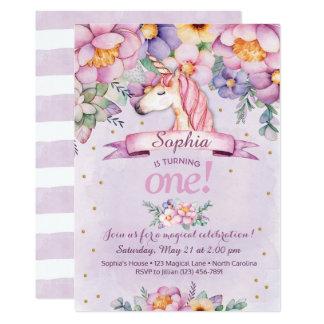 Florales mágicos de la invitación del cumpleaños
