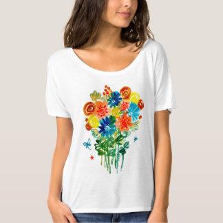 florece la camisa del regalo del amor de la