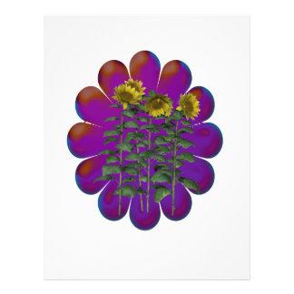 Florecimiento de las flores flyer personalizado