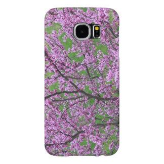 Florecimiento floral rosado del árbol funda samsung galaxy s6