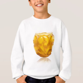 Florero amarillo del remolino del art déco sudadera