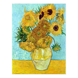 Florero con doce girasoles de Vincent van Gogh Postal