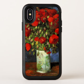 Florero con las amapolas rojas, bella arte de Van