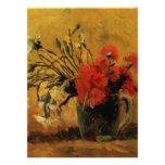 florero con los claveles rojos y blancos, Van Gogh Comunicado Personal
