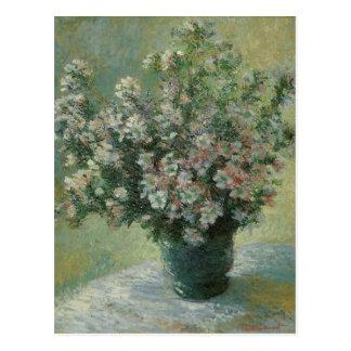 Florero de flores de Claude Monet, vintage floral Postal