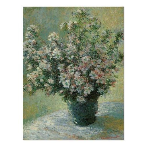 Florero de flores de Claude Monet, vintage floral Tarjeta Postal