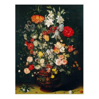 Florero de flores postal