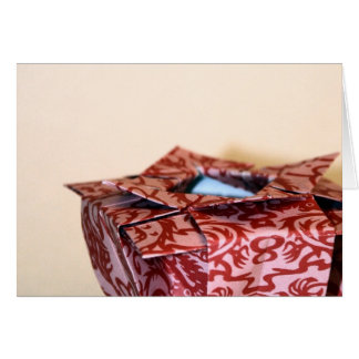 Florero de Origami Tarjeta