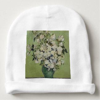 Florero de Vincent van Gogh de rosas que pintan Gorrito Para Bebe