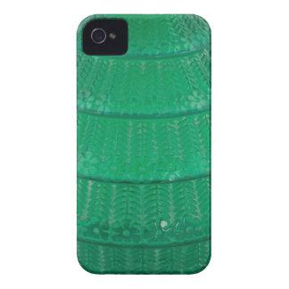 Florero verde del vidrio del arte carcasa para iPhone 4