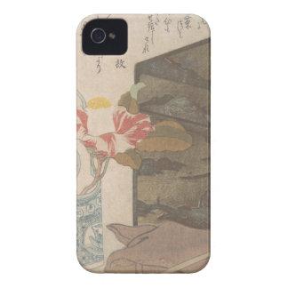 Florero y caja de la laca - chino funda para iPhone 4