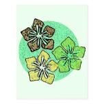 Flores 3 del Hawaiian Postal