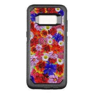 Flores a montones, porciones de diversas flores funda commuter de OtterBox para samsung galaxy s8