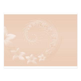 Flores abstractas en colores pastel de Brown Postal