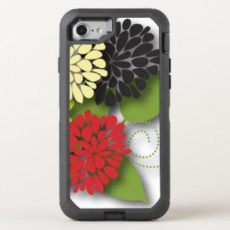 Flores abstractas femeninas lindas funda OtterBox defender para iPhone 8/7