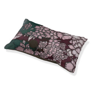 Flores abstractas hermosas cama para mascotas
