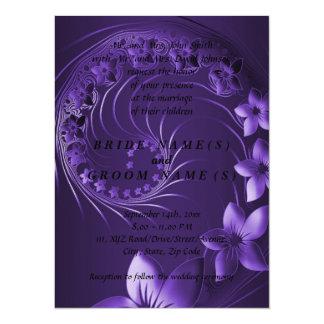 Flores abstractas violetas oscuras anuncios