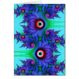 flores acuáticas tarjeta