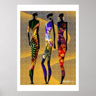 Flores africanas del desierto póster