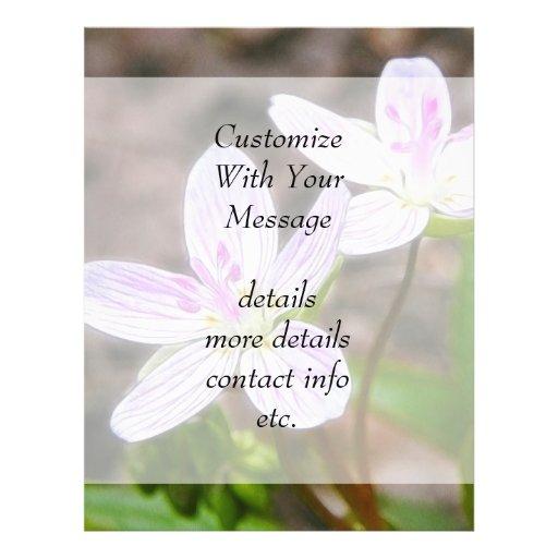 Flores agraciadas de la belleza de primavera tarjetas publicitarias