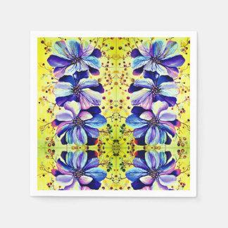 Flores agraciadas del Delphinium, pintura de la Servilleta De Papel