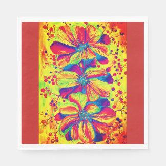 Flores agraciadas del Delphinium, pintura de la Servilletas Desechables
