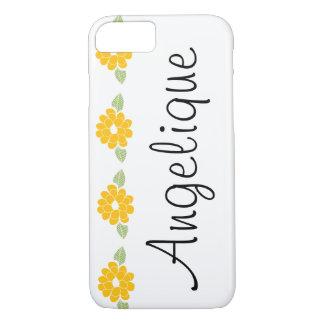 Flores amarillas conocidas de Angelique Funda iPhone 7