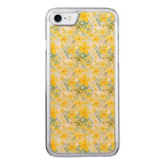 Flores amarillas de la acuarela funda para iPhone 7 de carved