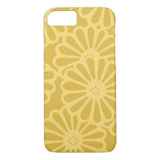 Flores amarillas de oro funda iPhone 7