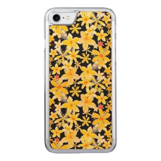 Flores amarillas funda para iPhone 7
